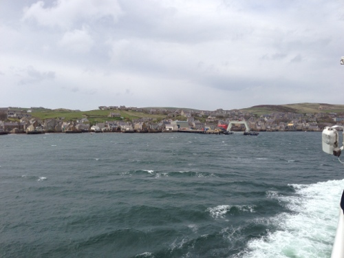 Arriving in Stromness