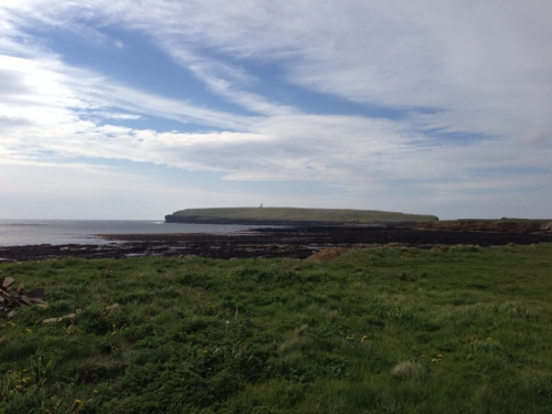 Birsay coastline and lighthouse