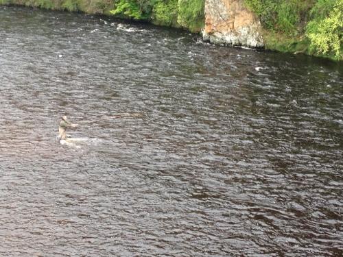 Craigellackie Bridge - fly fisherman