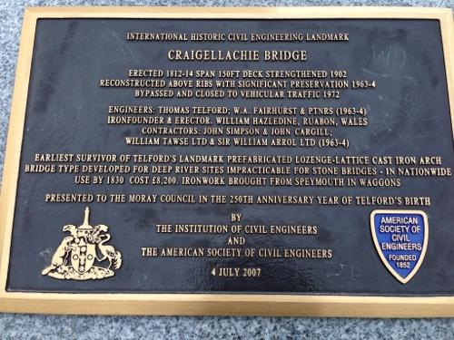 Craigellackie Bridge history