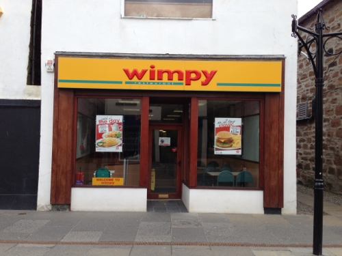 Dingwall Wimpy, unfortunately closed