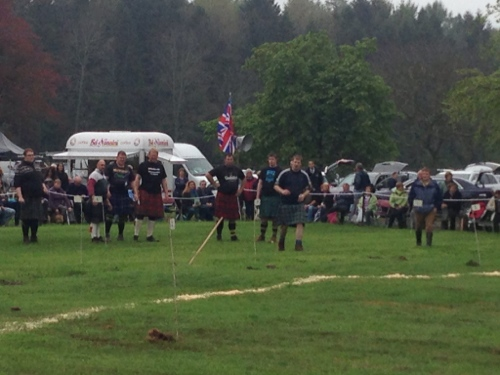 Highland Games - hammer throwing