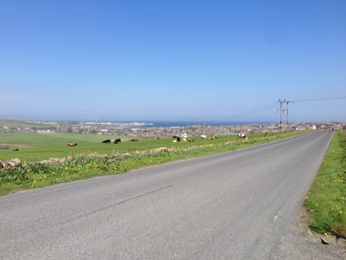 Looking back and down to Kirkwall