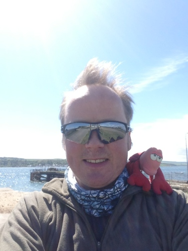 Me and lobster in Cromarty Firth