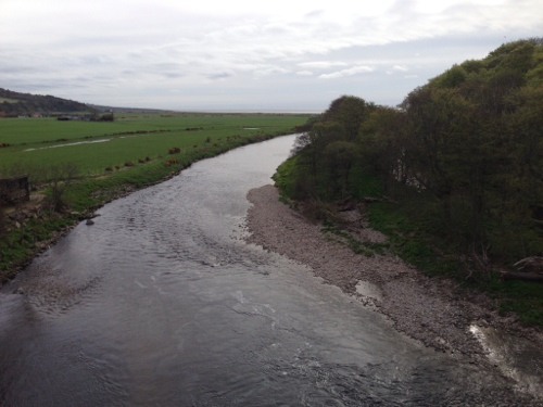 Montrose cycle path - view from viaduct