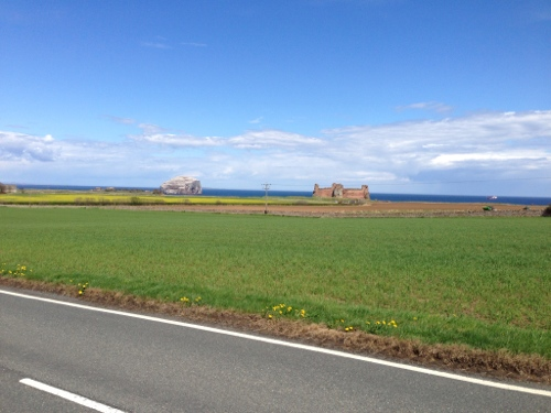 Tantallon Castle and Bass Rock Island
