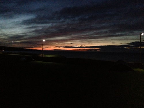 Thurso campsite - sunset