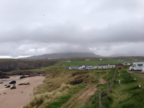 Beach next to Durness campsite - another grey day at present