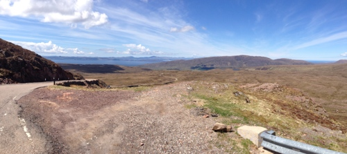 Bealach-Na-Ba - panorama of ascent