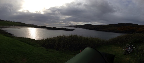 Dusk at Scourie campsite