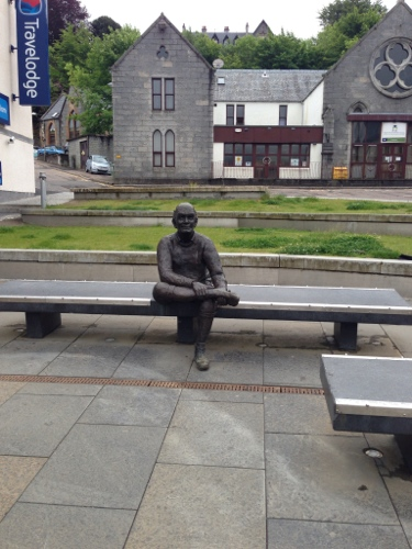Fort William - random statue of someone sitting down...