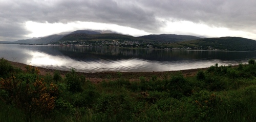 Looking across to Fort William