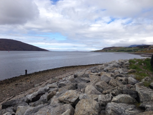 Looking out along Loch Broom towards the Hebs