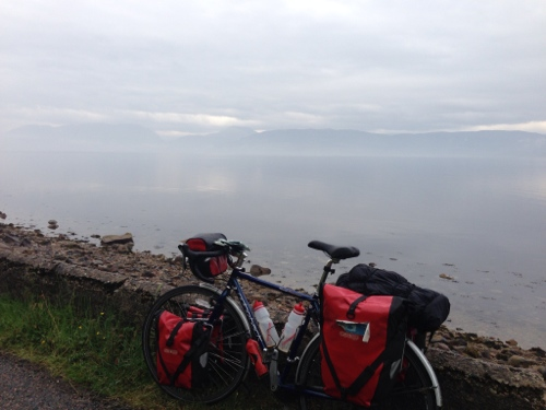 Mist on Loch Linnhe, bike doing well