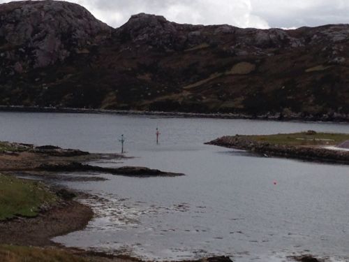 Narrow entrance to Kinlochbervie harbour