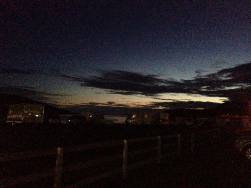 Night sky in Ullapool