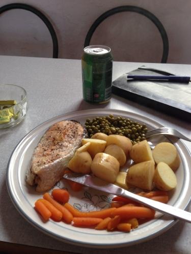 Ozone Cafe - wild salmon dinner