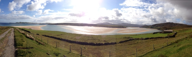 Panoramic view of sandy kyle