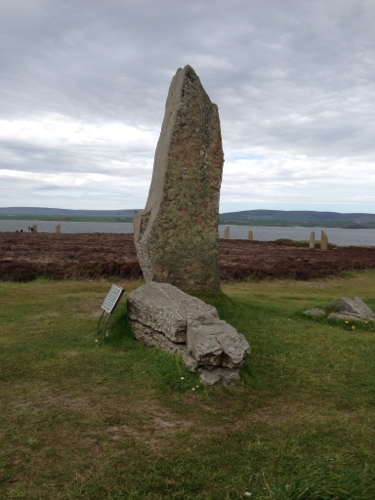 Ring of Brodgar - lightning shattered stone