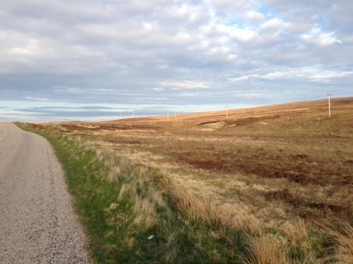 Roads passing through moorland
