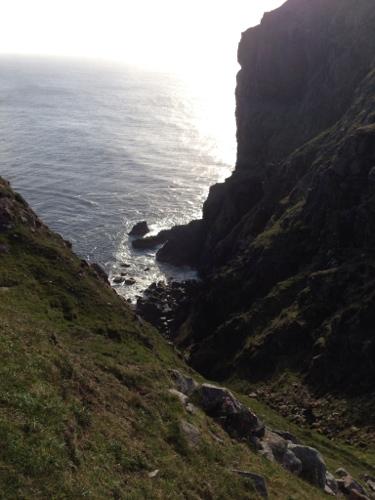 Steep cliffs!