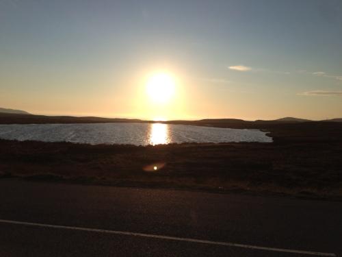 Sun reflected in loch