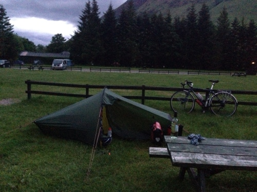 Tent up in Glen Nevis