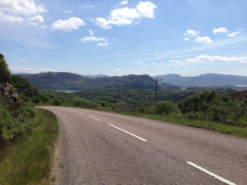 The descent to Loch Moidart