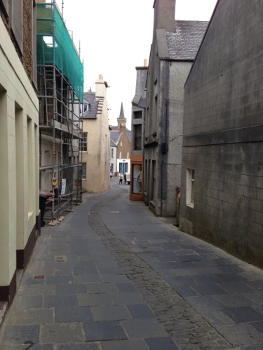 The narrow streets of Stromness