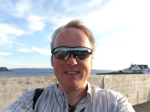 Uig - walk to he nod of the pier, windswept look