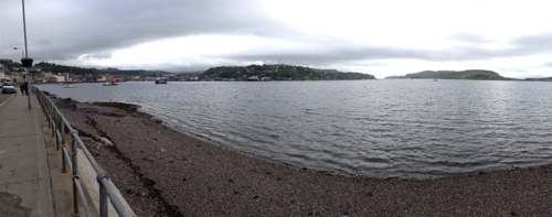 View from Oban seafront