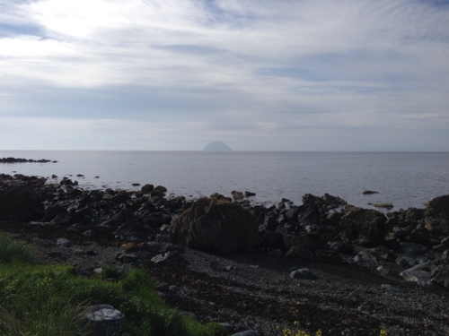 Ailsa Craig off the coast