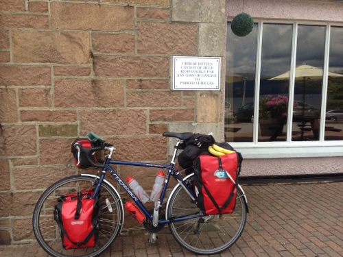 Bike having a break at Loch Fyne Hotel