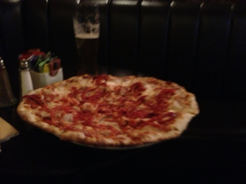 Campbeltown - pizza at White Hart Hotel