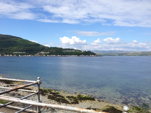 Dunoon waterfront looking over to Strone