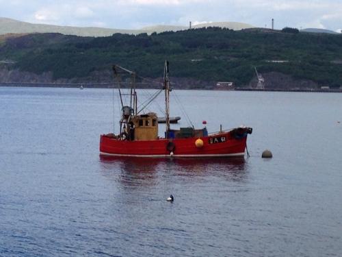 Fishing boat on Loch Long