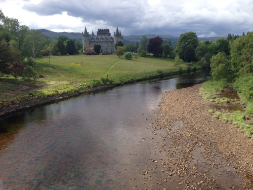Inveraray Castle from bridge