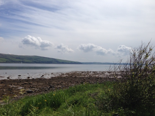 Looking across to Bute