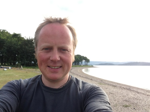 Me at Otter Ferry, shores of Loch Fyne