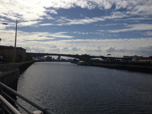 Pedestrian/Cycle bridge over the Clyde