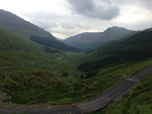 View down Glen Croe from Rest and be thankful