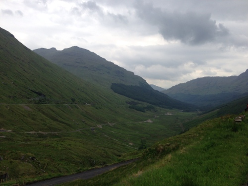 View down Glen Croe from Rest and be thankful 2