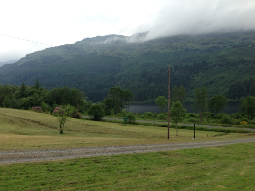 View from Whistlefield Inn down to Loch Eck