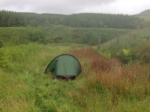 Wild camp in hills near Southend 1