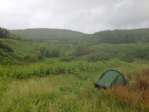 Wild camp in hills near Southend 2