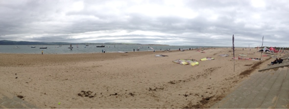 Aberdyfi beach panorama