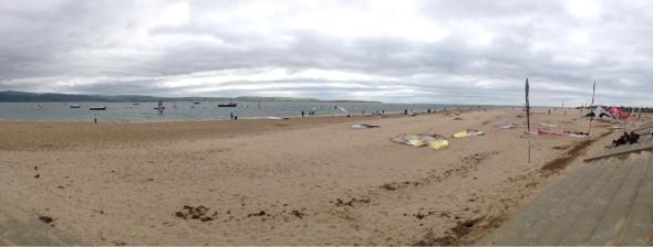 Aberdyfi beach panorama