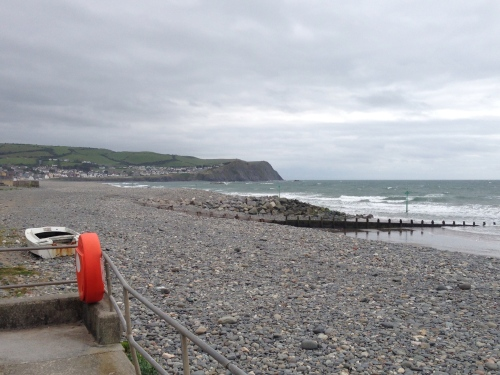 Borth beach - looking south