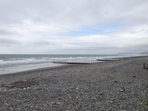 Borth beach - not too popular today