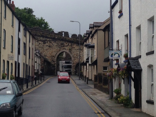 Conwy town and wall